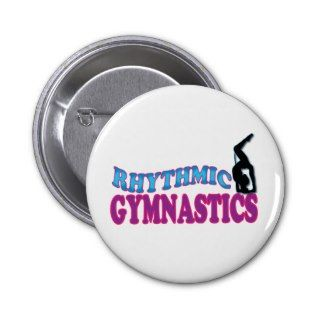 Adorable Rhythmic Gymnastics Gifts Buttons