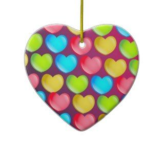 Heart Wallpaper Christmas Tree Ornament
