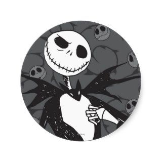 Jack Skellington 8 Round Sticker