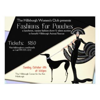 Custom Art Deco Benefit Fundraiser Invitations