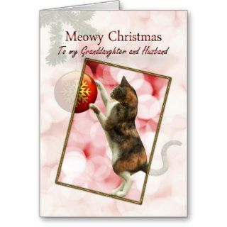 Granddaughter and husband, Meowy Christmas Cards
