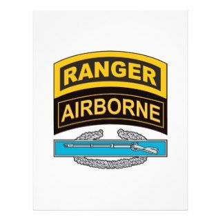 Combat Infantrymans Badge Ranger/Airborne Tab Custom Flyer