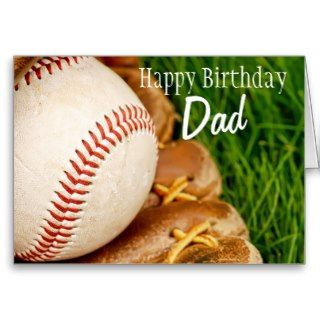 Happy Birthday Dad Baseball with Mitt Cards