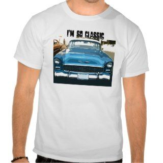 So Classic, blue vintage 55 Chevy shirt