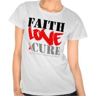 Aplastic Anemia Faith Love Cure Tshirts