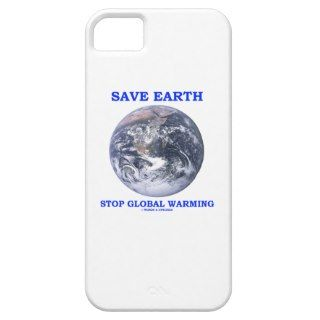 Save Earth Stop Global Warming (Blue Marble Earth) iPhone 5 Cover