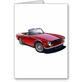 Triumph TR6 Greeting Cards