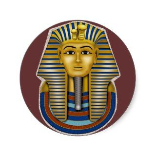 King Tut Mask Costume Tees n Stuff Round Stickers