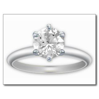 Diamond Ring Bling Clipart Post Cards