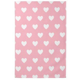 Pretty Pink Polka Heart Wallpaper Design Kitchen Towels