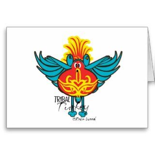 Tribal Turkey diva collection thanksgiving cards