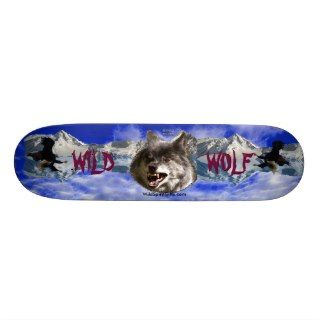 WILD WOLF & EAGLE Wildlife lover Skateboard