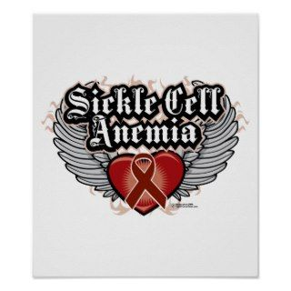 Sickle Cell Anemia Wings Print