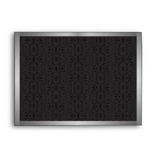 Black Lace Envelope   A7 Greeting Card