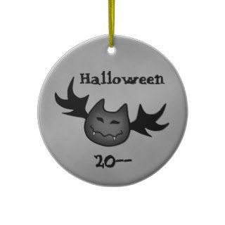 Cute vampire bat Happy Halloween funny souvenir Christmas Ornaments