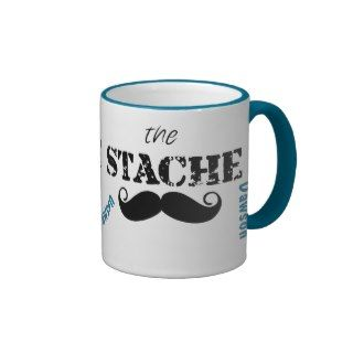 The Stache Mustache Retro Hipster Coffee Mugs