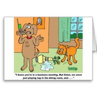 Dog Cartoon Gifts For Dog Lovers Cards