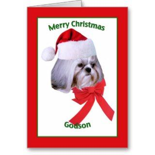 Godsons Shih Tzu Dog Christmas Card