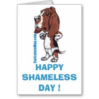 Basset Hound Greetings Card Of Shame !