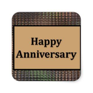 Happy Anniversary Square Stickers