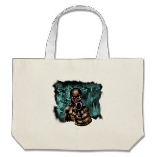 Urban Gangsta Graffiti Art   pointing gun   Rapper Bags