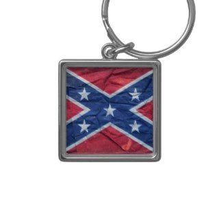 Grunge Dirty Redneck Confederate Flag Key Chains