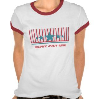 Bold July 4th Stars and Stripes Womens Tee
