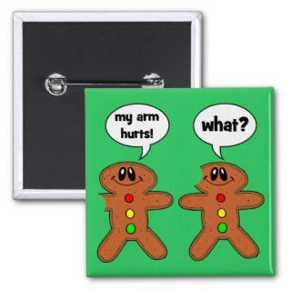 gingerbread man pinback buttons