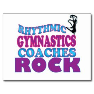 Rhythmic Gymnastics Coaches Gifts Postcards