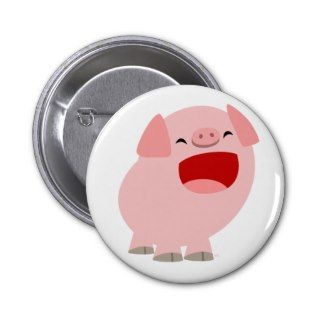 Cute Cartoon Singing Pig Button Badge