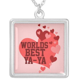 Worlds Best Ya ya (or any name) Personalized Necklace