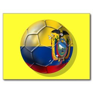 Ecuador Elt Tri soccer futbol ball gifts Post Cards