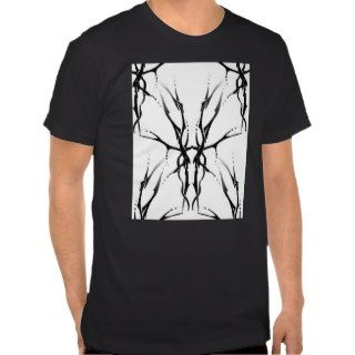 Tribal Deer Skull Tattoo Fantasy Digital Collage T shirts