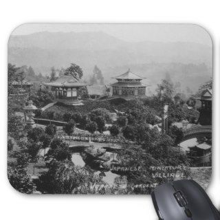 Hollywood, CA Japanese Gardens Miniature Village Mousepads