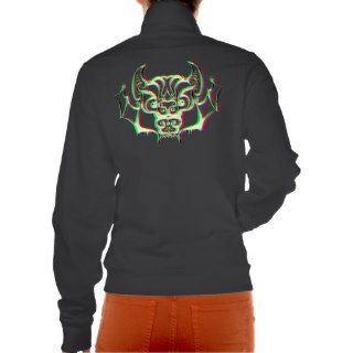 Retro 3D Tribal Vampire Bat Womens Jacket