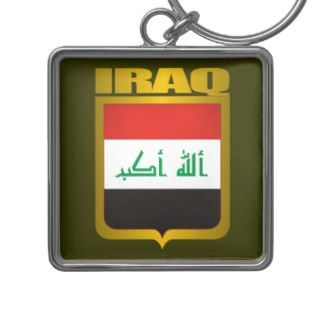 Iraq Gold Keychain