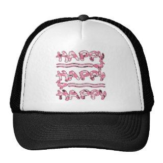 Happy Happy Happy Pink Camouflage Ducks Hat