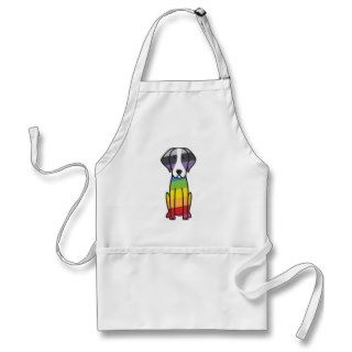 American Foxhound Dog Cartoon Aprons