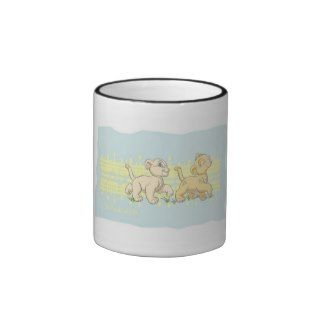 Lion Kings Simba and Nala Disney Coffee Mug