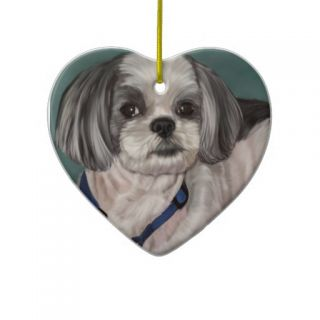 Shih Tzu Christmas Tree Ornaments