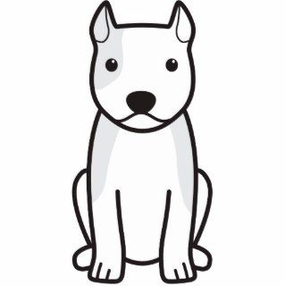 American Staffordshire Terrier Dog Cartoon Photo Cut Out