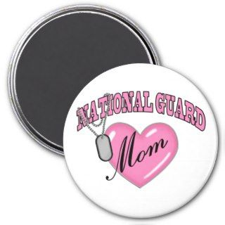 National Guard Mom Heart N Dog Tag Refrigerator Magnet