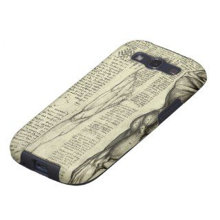 Male Muscle Anatomy Sketch by Leonardo da Vinci Samsung Galaxy S3 Case