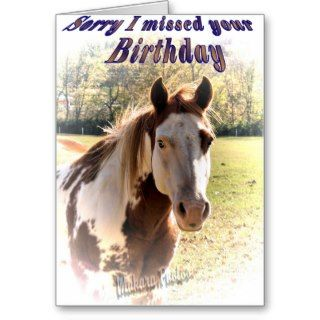 Belated birthday customize it card