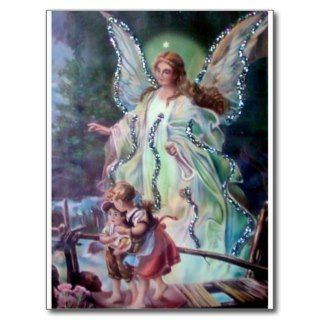GUARDIAN ANGEL c. 1900 Post Cards