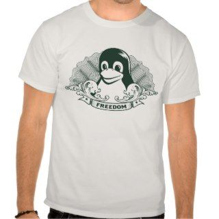 Tux Penguin   (Linux, Open Source, Copyleft, FSF) T Shirts