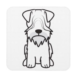 Cesky Terrier Dog Cartoon Drink Coasters