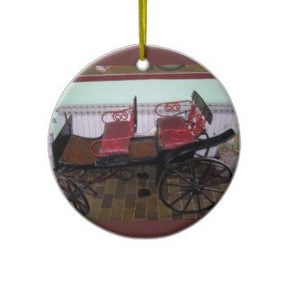 Vintage Antique Horse Carriage Ornament