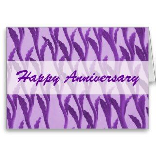Happy Anniversary purple branches Cards