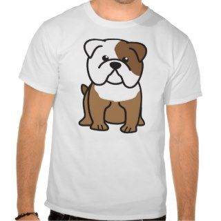 Bulldog Dog Cartoon Tshirt